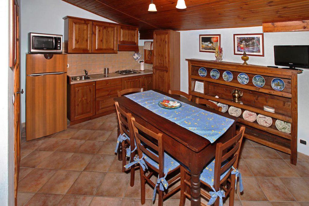 Appartamento Blu cucina e soggiorno